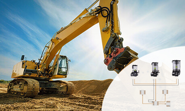 Excavator Centralized Lubrication System